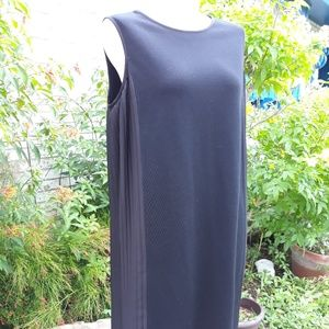 Black Dress with Pleated Side Panels by St. John